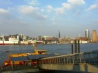 Blick vom Theater auf den Hafen